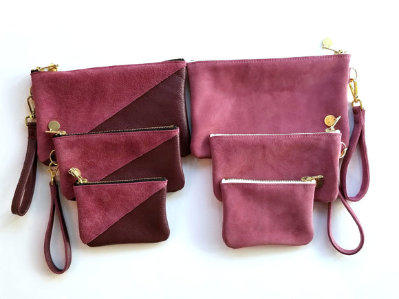 Merlot Leather and Suede Collection