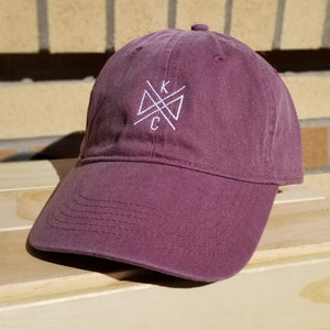 Crossroads Embroidered Dad Hat- Plum