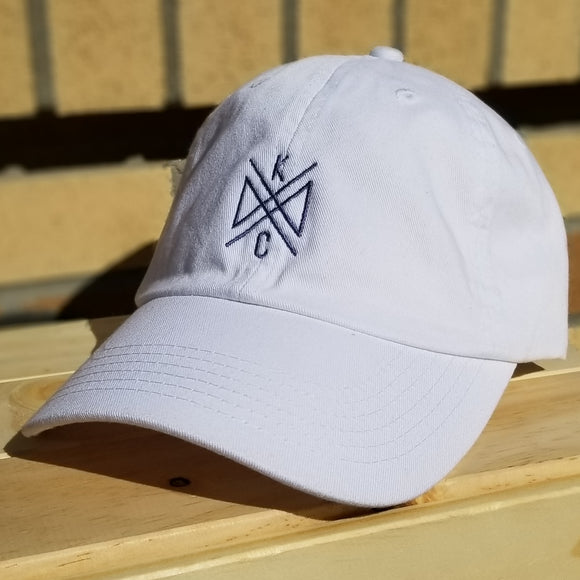 Crossroads Embroidered Dad Hat- White