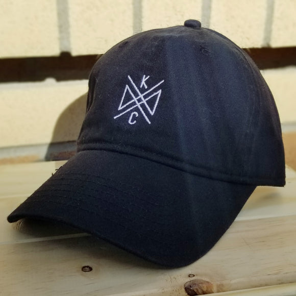 Crossroads Embroidered Dad Hat- Black