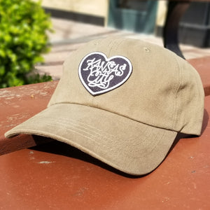 Heart Patch Dad Hat - Khaki