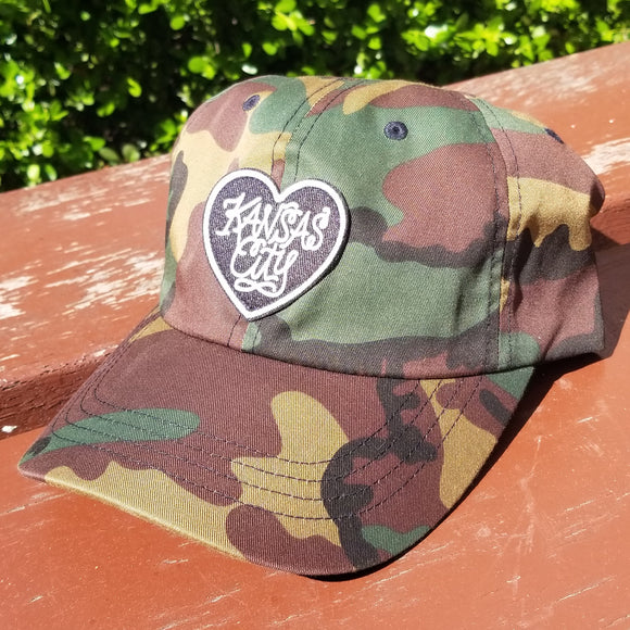Camo Heart Patch Dad Hat