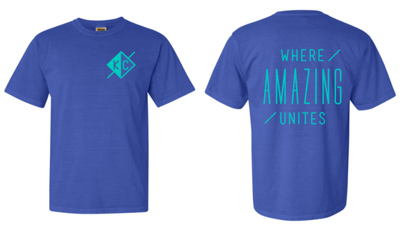Journey Comfort Color Tee - Bahama Blue