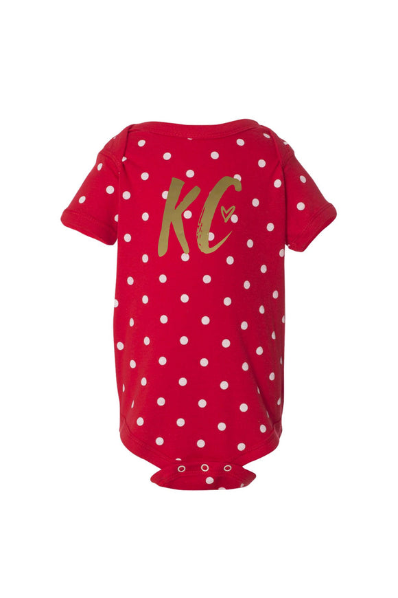 HIBRID x sewKC Onesie - Red and Gold