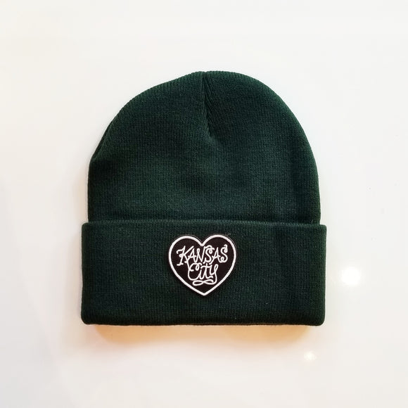 KC Heart Patch Beanie