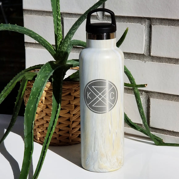 Connected 20oz Water Bottle - Marble