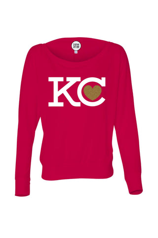 KC Heart Long Sleeve Dolman