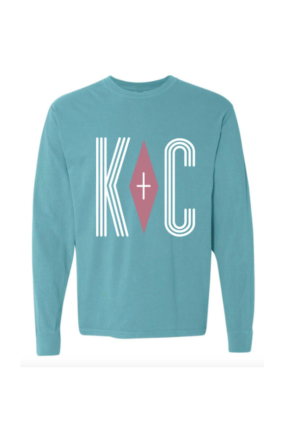 Comfort Colors KC Positive Vibes Long Sleeve Tee