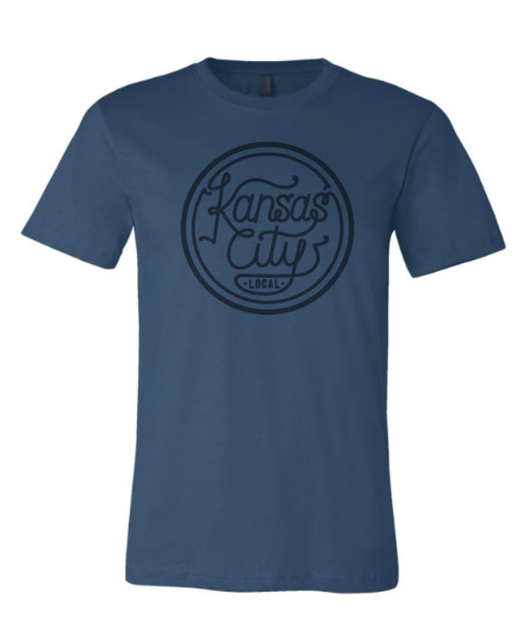 Kansas City Local Unisex Tee - Steel Blue