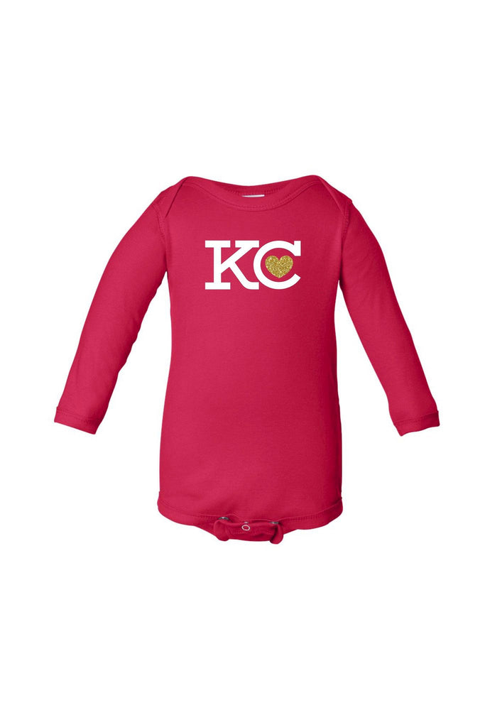 KC Heart Onesie