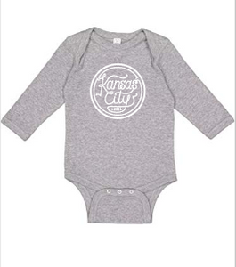 Kansas City Local Long Sleeve Onesie - Heather Grey