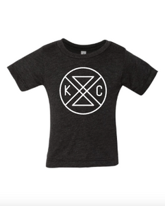 Connected Baby Tee - Charcoal