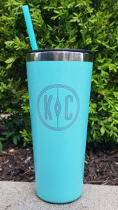 22oz Summer Sipper Tumbler - Mermaid Mint