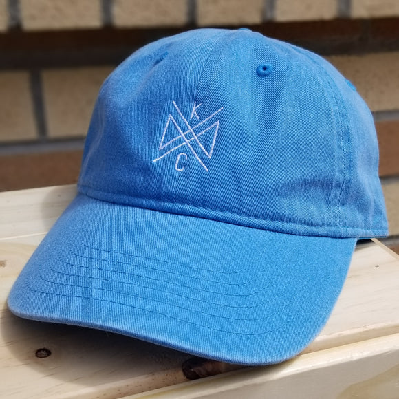 Crossroads Embroidered Dad Hat - Caribbean Blue