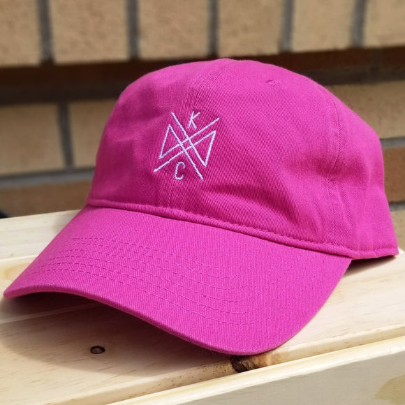 Crossroads Embroidered Dad Hat - Flamingo Pink