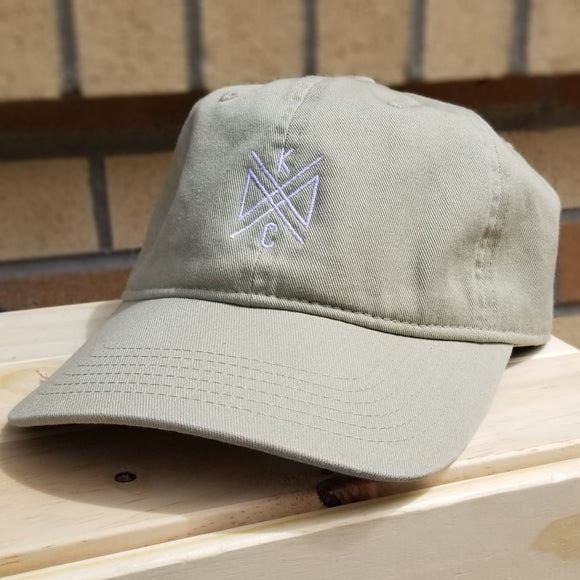 Crossroads Embroidered Dad Hat - Khaki