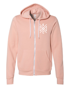 Crossroads Pocket Full Zip Hoodie - Peach