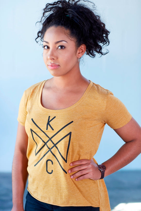 Crossroads Women's Scoop Neck - Concert Gold