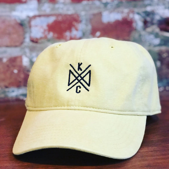 Crossroads Embroidered Dad Hat - Mustard