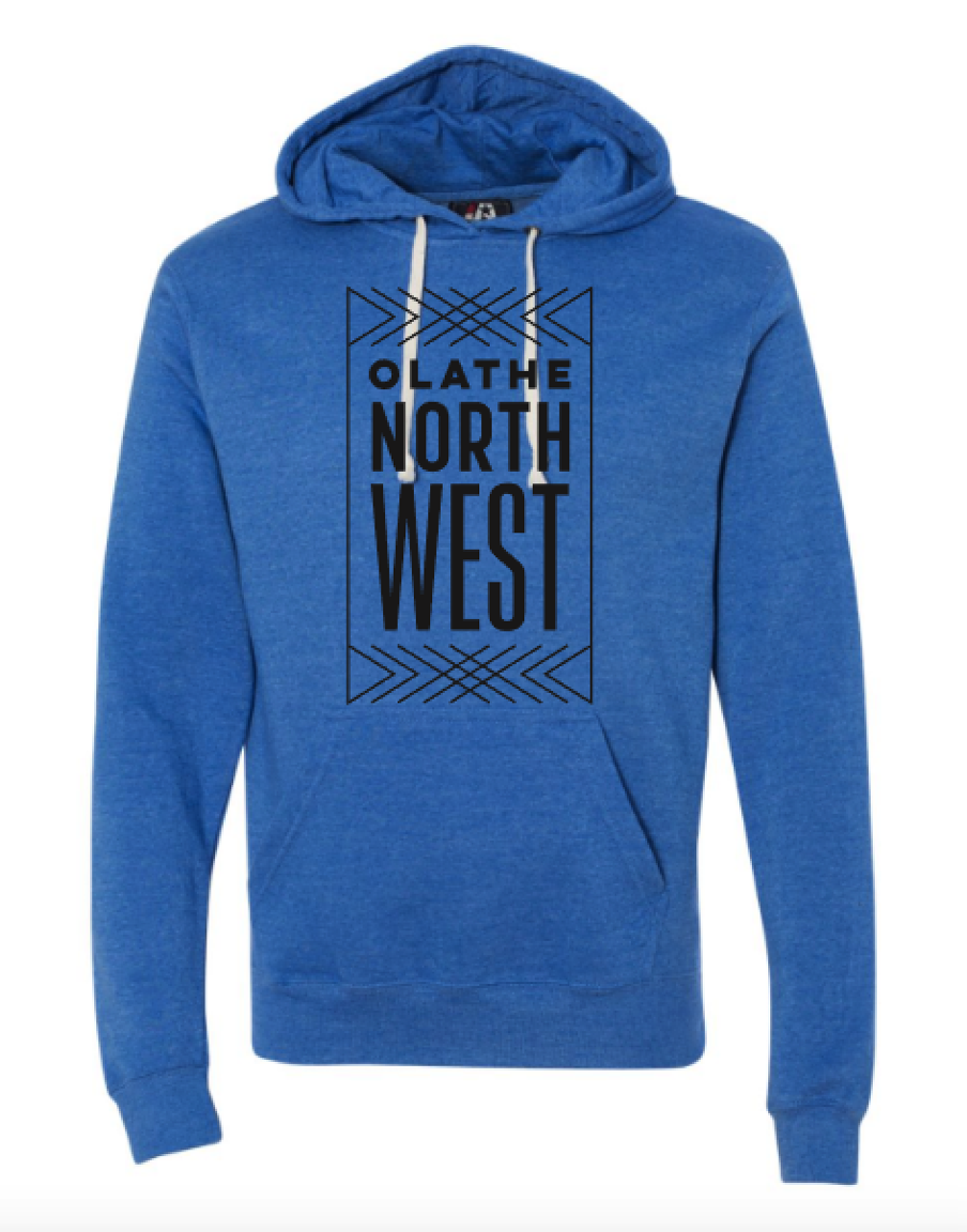 Olathe Northwest Heather Blue Triblend Hoodie