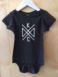 KC Crossroads Onesie - Navy