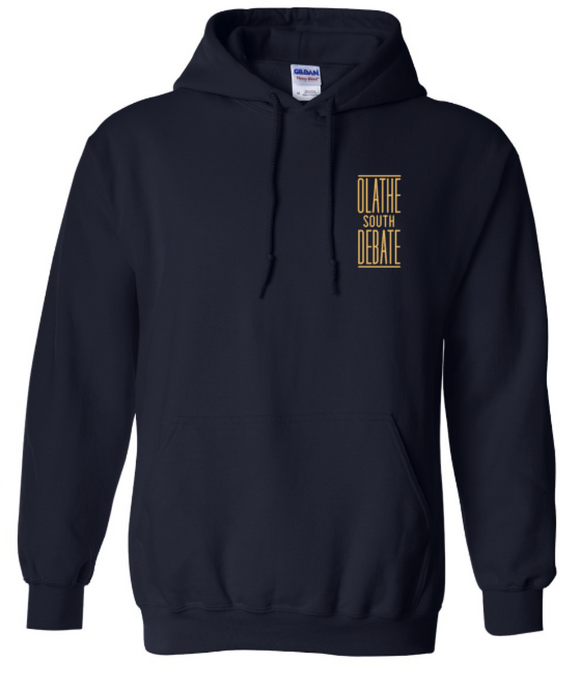 Olathe South Debate Heavyweight Navy Hoodie