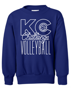 KC Challenge YOUTH sweatshirt in Royal Blue