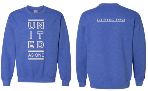Kansas United BLUE CREW SWEATSHIRT