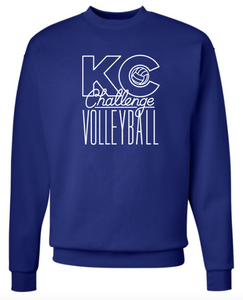 KC Challenge Crewneck in Royal Blue