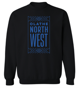 Olathe Northwest Black Crewneck Sweatshirt