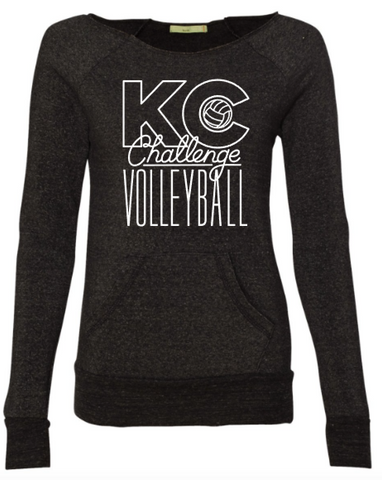 KC Challenge Women's off the shoulder sweatshirt