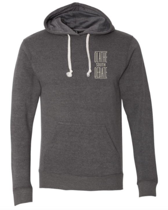 Olathe South Debate Charcoal Triblend Hoodie