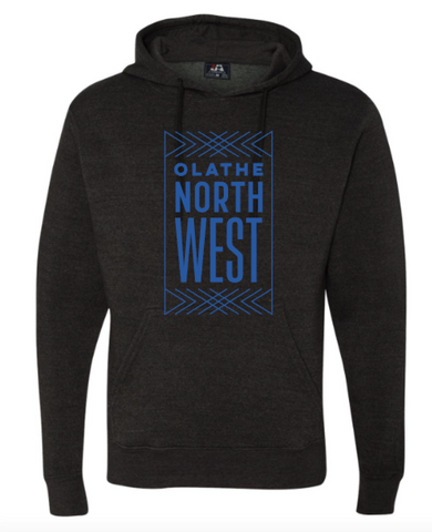 Olathe Northwest Heather Black Triblend Hoodie