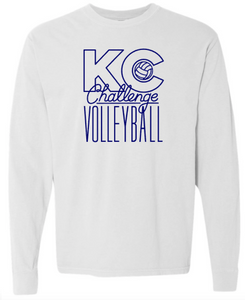 KC Challenge White Comfort Color Long Sleeve