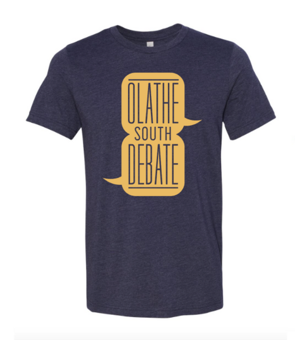 Olathe South Debate Heather Navy Tshirt
