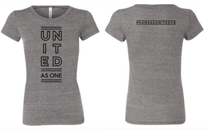 Kansas United Grey Triblend Women's T-shirt