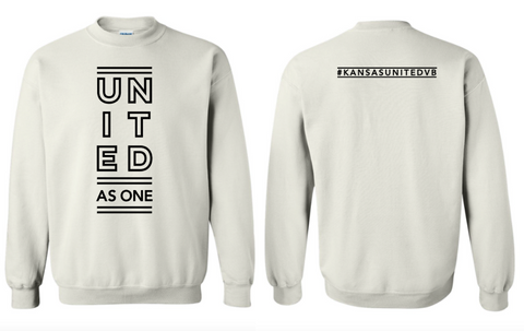 Kansas United WHITE CREW SWEATSHIRT