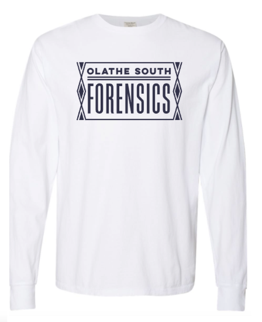 Olathe South Forensics White Long Sleeve Tee