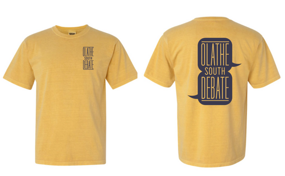 Olathe South Debate Mustard Tshirt