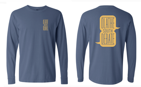 Olathe South Debate Blue Long Sleeve Tshirt