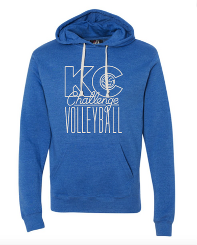 KC Challenge Heather Blue Triblend Hoodie