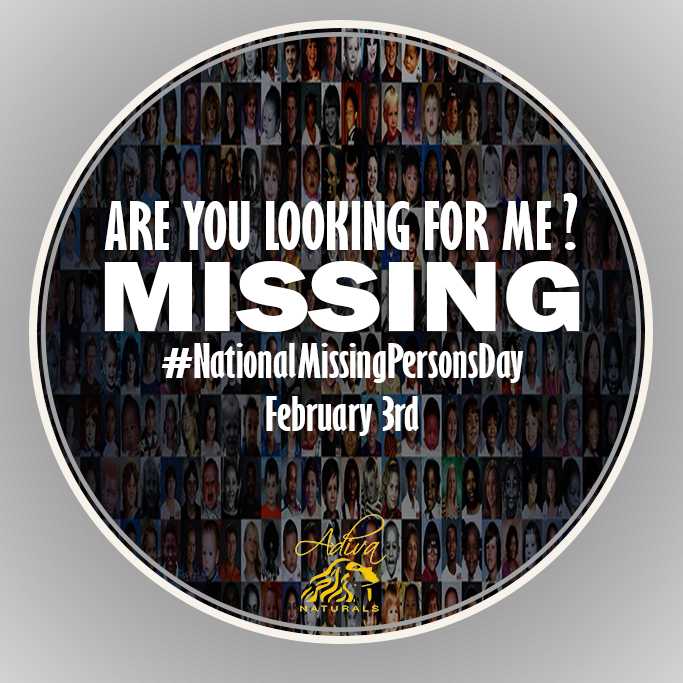 Are you looking for me? #NationalMissingPersonsDay