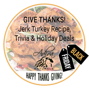 Happy Thanks Giving! Jerk Turkey Recipe, Trivia and Black Friday Deals