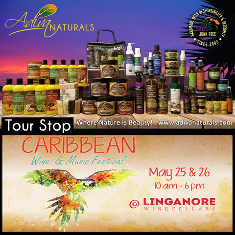 Adiva Naturals Tour Stop Caribbean Wine Music Food Festival 2019