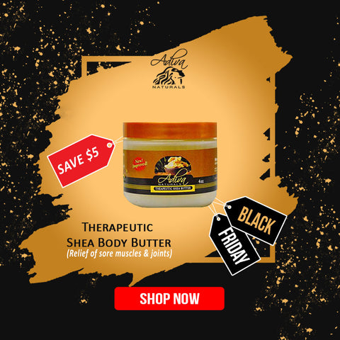 Adiva Naturals Black Black Deals Therapeutic Shea Body Butter (Relief of sore muscles & joints)