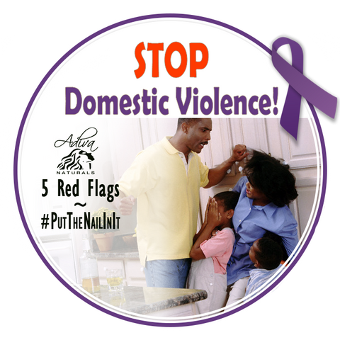 Stop Domestic Violence!  No matter why it happens,  abuse is not okay and it's never justified! #putthenailinit