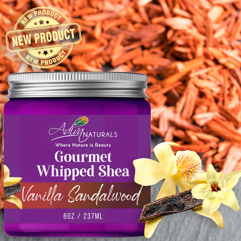 Whipped Shea Butter Vanilla Sandalwood Body Butter Natural Lotion