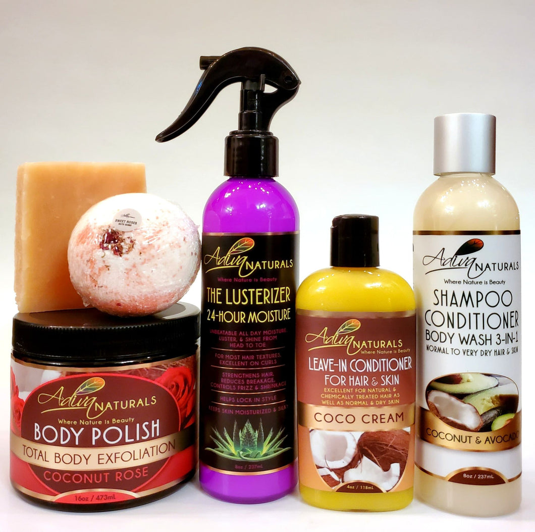 Ultimate 6-pk Coconut Rose Gift Set w/Shampoo (Free Shipping)