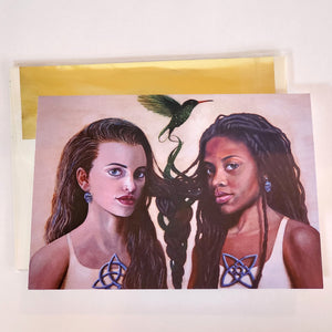 'TRIQUETRA AND AKOMA NTOASO' S. Ross Browne Greeting Card: 5x7 Frame Ready