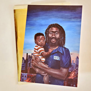 'BECAUSE (RACIAL SYNECDOCHE)' S. Ross Browne Greeting Card: 5x7 Frame Ready